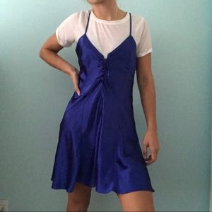 Royal Blue Corset Slip Dress